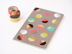 DIY: dot notebook with washi tape: so many uses for washi tape