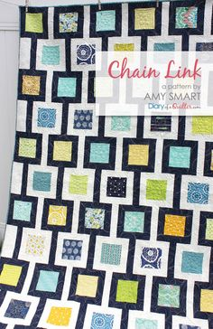 Chain Link Quilt Pattern by Amy Smart, Beginner Friendly, Charm Pack Friendly