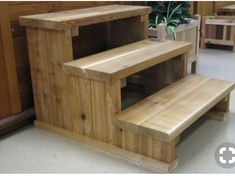 Woodworking Plans Hot Tub Steps the Woodworking Plans Ideas Of Diy Wood Stairs Whirlpool Deck, Stair Plan, Dog Stairs, Wood Display Stand, Hot Tub Deck, Woodworking Plans, Woodworking Projects, Woodworking Basics, Woodworking Classes