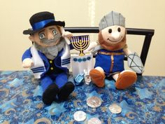 Best friends playing the dreidel game! Mensch On A Bench,  Maccabee On A Mantel