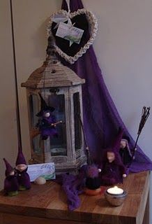Halloween nature table