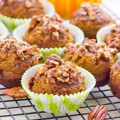Pumpkin Crumb Protein Muffins HealthyAperture.com
