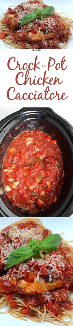 Crock-Pot Chicken Cacciatore is the perfect family dinner.