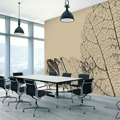 Mural Stony Leaf is a bold statement for any home, hotel or office #stawsky #design #murals #wallswork #tapetomat #wallpaper #wallpapers #designer #artist #tapeten #tapety #fashion #decorate #diy #wall #walls #vintage #retro #loft #art #comingsoon #leaf #office #history #home #house #interior #interiordesign #corpo