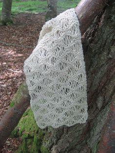Lace Knit Wool Scarf £40.00