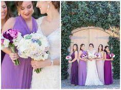 Santa Rosa, Trentadue Winery wedding bride and bridesmaids with bridal flowers