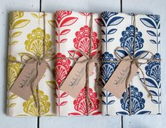 Floral print tea towel set of 3 by luluandluca on Etsy, $39.00