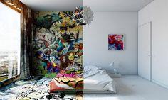 Interior #2: A influência do street art com o design minimalista
