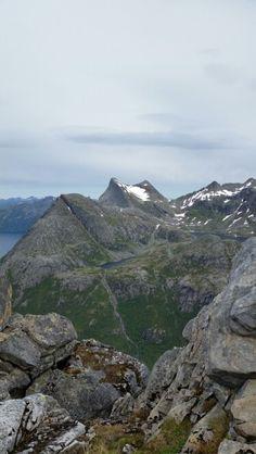 Tatt fra Heggmotinden i Bodø, 798 moh