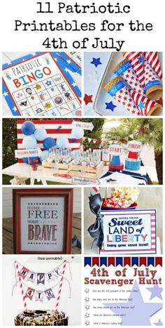 These free patriotic printables are a great addition to your 4th of July festivities.  Check out this and other fun 4th of July ideas on redomom.com.