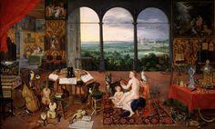 Ян Брейгель Старший и Питер Пауль Рубенс - аллегориями (пяти) Senses: Аллегория слуха (1617-1618)