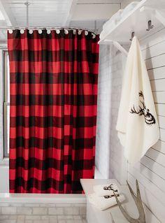 Le rideau de douche carreaux Buffalo   Simons Maison   Magasinez des Rideaux de Douche en Tissus en ligne   Simons