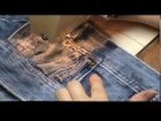 Vídeo-aula Alargar bermuda jeans  parte 3
