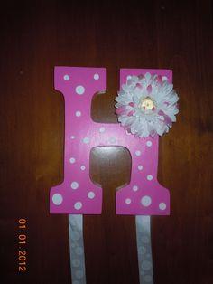 Polka dot hair bow holder