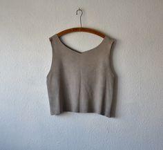 Organic clothing tank vest cotton stretch tshirt top natural grey yoga minimalist boho shirts rustic pilates clothing rough cut eco workout by EthicalLifeStore on Etsy https://www.etsy.com/au/listing/454378596/organic-clothing-tank-vest-cotton