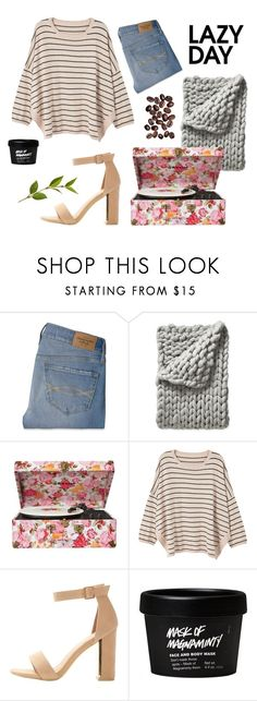 """""""Exploring peaceful book stores then relaxing on your couch while it rains"""" by pizzalover020 ❤ liked on Polyvore featuring Abercrombie & Fitch, Serena & Lily, Crosley and MANGO"""
