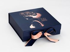 Navy Blue Luxury Gift Boxes and Wholesale Gift Packaging - FoldaBox USA packaging ribbon Navy Blue Medium Gift Boxes with changeable ribbon Cupcake Packaging, Gift Box Packaging, Jewelry Packaging, Clothing Packaging, Food Packaging, Wedding Keepsake Boxes, Beauty Products Gifts, Gift Box Design, Diy Design