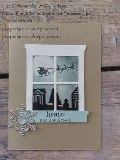 Today I am sharing a Christmas card using the Hearts Come Home Bundle coming up in the Holiday Catalogue coming on the Hi everyone! Today I am sharing a Christmas card using the Hearts Come Home Bund. Christmas Cards 2018, Christmas Card Crafts, Stampin Up Christmas, Xmas Cards, Holiday Cards, Christmas 2017, Christmas Stuff, Homemade Birthday Cards, Homemade Cards