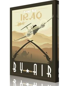 Share Squadron Posters for a 10% off coupon! Come See Iraq by Air – MC-12 Liberty #http://www.pinterest.com/squadronposters/