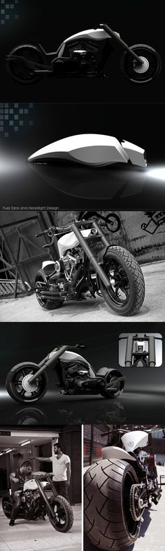 The words modern and chopper don't usually go together when we're talking about motorcycles. Read Full Story at Yanko Design