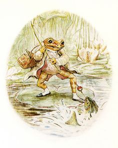 Jeremy Reels in a Fish by Beatrix Potter