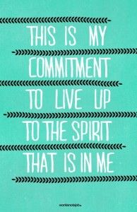 My Commitment.