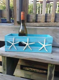 Image detail for -Beach house decor Shabby Chic Storage Crate with by justbeachy… - Home Professional Decoration Shabby Chic Storage, Shabby Chic Decor, Seashell Crafts, Beach Crafts, Beach House Decor, Diy Home Decor, Dream Beach Houses, Beach Room, Beach Bathrooms