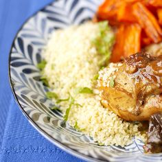 Easier version of couscous/cilantro. Thanks, Martha. Couscous with Cilantro Roasted Vegetable Couscous, Roasted Vegetables, Couscous How To Cook, Cilantro Recipes, Martha Stewart Recipes, Ras El Hanout, Lemon Pasta, Braised Chicken, Cooking Recipes