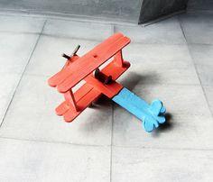 Bi-Plane Model Made From Lollipop Sticks (Popsicle Sticks) - 5 Of 8 by Kelvin64, via Flickr