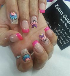 French Manicure Nails, Manicure Y Pedicure, Silver Nails, Hair Hacks, Fun Nails, Hair And Nails, Nail Designs, Polish, Nail Art