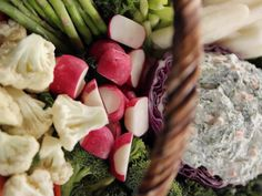 Get Easter Crudites Basket with Spinach Dip Recipe from Food Network