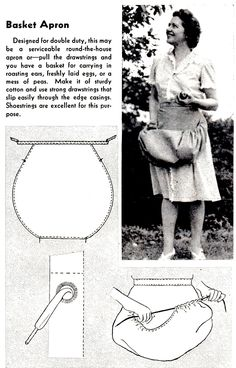 How to Sew a Basket Apron - Vintage Crafts and More