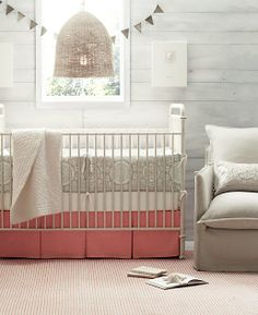 Gray nursery with raspberry accents LOOOOOOVE this color pallet as the base!