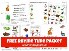 Free Rhyme Time printable pack