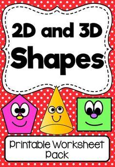 2d and 3d shapes printable worksheet pack no prep. Black Bedroom Furniture Sets. Home Design Ideas