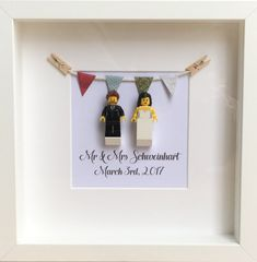 LEGO Personalised Wedding Gift Anniversary Gift Mr & Mrs Lego