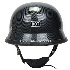 55.00$  Buy now - http://aliyig.worldwells.pw/go.php?t=32736220599 - WWII German Style Vintage Motorcycle Helmet Carbon Fiber Graphics Moto Motocicleta Capacete Casco Casque Cruiser Half Helmets 55.00$