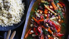The chermoula gives this lovely stew a spicy lift and paired with couc cous makes a satisfying meal.