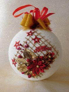 Christmas Fabric, Christmas Balls, Christmas Time, Christmas Crafts, Christmas Ornaments, Christmas Tree Decorations, Holiday Decor, Ladybug Crafts, Glitter Ribbon