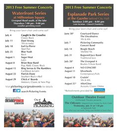 2013 Summer Concert Series in Pickering Ontario