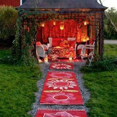 Gorgeous outdoor meditation space