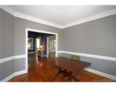 Dining Room Paint Ideas With Chair Rail | Large dining room with ...