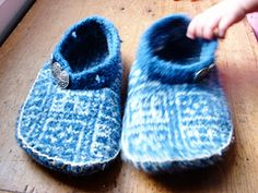 felted slippers, wool sweater projects