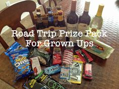 Road Trip Games and Prize Pack For Grown Ups