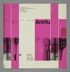 pharmaceutical brochure cover by René Martinelli 1956