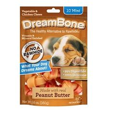 DreamBone Vegetable and Chicken Peanut Butter Mini Dog Chews ** Want additional info? Click on the image. (This is an affiliate link and I receive a commission for the sales)