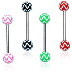 Shop for Surgical Steel Star Print Barbell Tongue Rings (Set of Get free delivery On EVERYTHING* Overstock - Your Online Jewelry Shop! Tongue Piercing Jewelry, Tongue Piercings, Multi Coloured Rings, Star Jewelry, Jewelry Rings, Tongue Rings, Body Jewellery, Cartilage Earrings, Piercing Tattoo