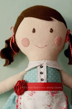 Emma doll by charlaanne on Etsy