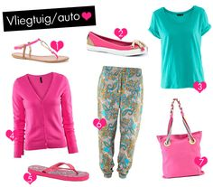 Inspiratie voor 4 verschillende vakantie outfits - Vliegtuig/auto