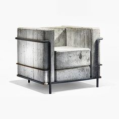 "A concrete version of a stunning design chair: #LC2 Petit #Armchair (#Stone Edition), originally designed by Le #Corbusier, Pierre #Jeanneret and Charlotte #Perriand in 1928. ""The #cube #chair""."